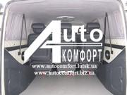 Шторы автомобильные в Volkswagen T5 серые с салазками